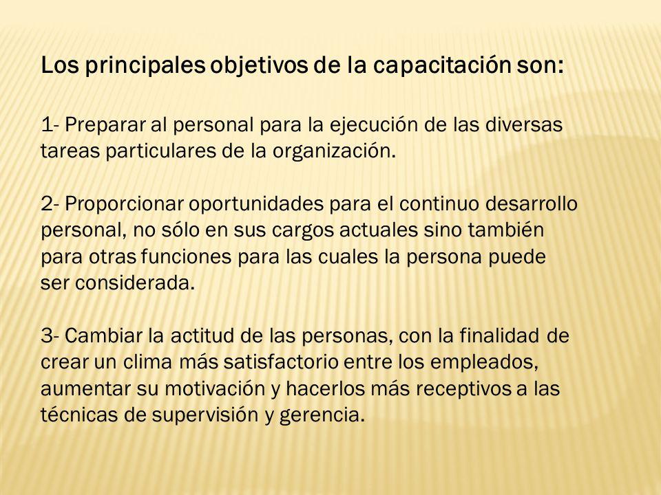 Los principales objetivos de la capacitación son: