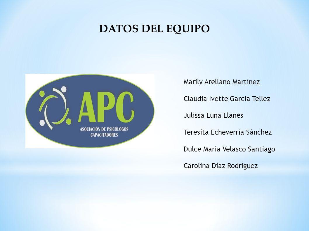 DATOS DEL EQUIPO Marily Arellano Martinez Claudia Ivette Garcia Tellez