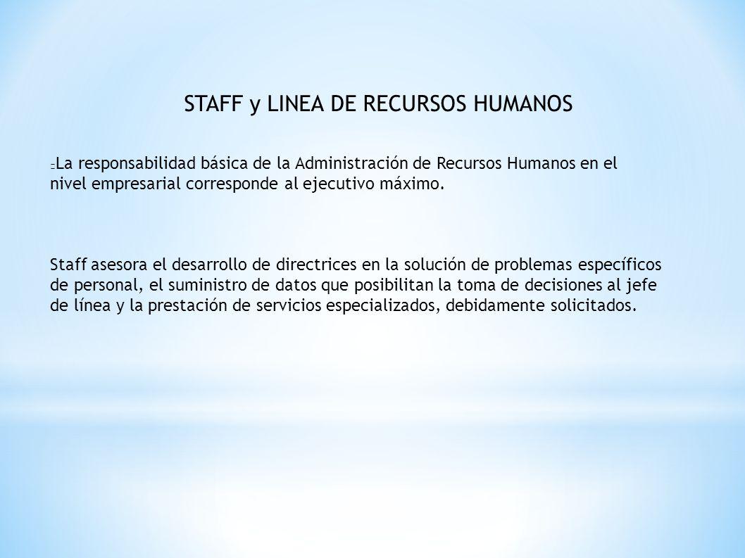 STAFF y LINEA DE RECURSOS HUMANOS