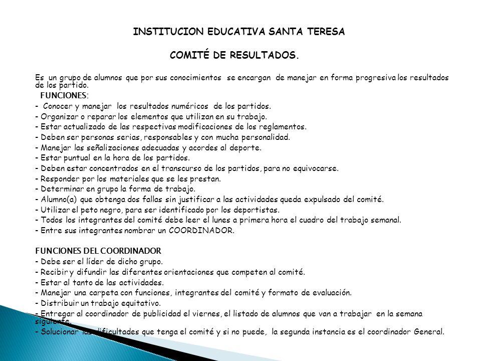 INSTITUCION EDUCATIVA SANTA TERESA