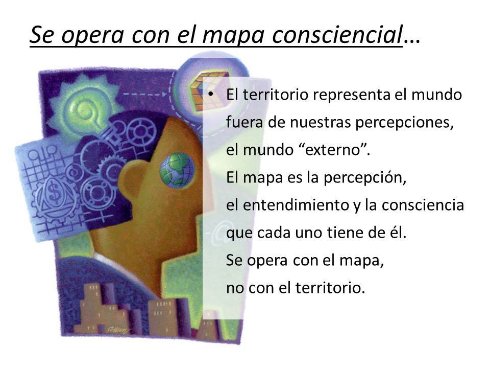 Se opera con el mapa consciencial…