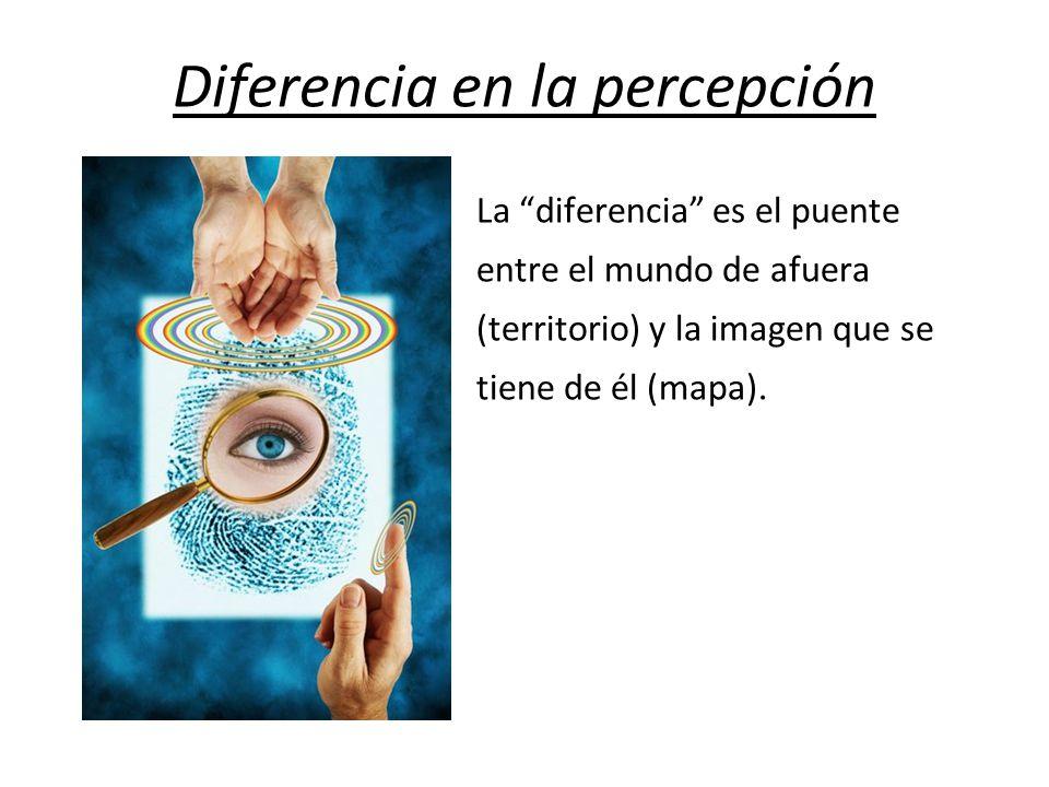 Diferencia en la percepción