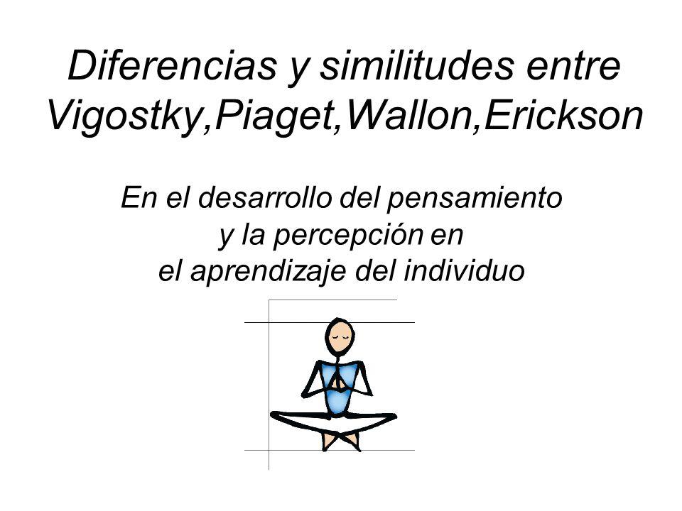 Diferencias y similitudes entre Vigostky,Piaget,Wallon,Erickson