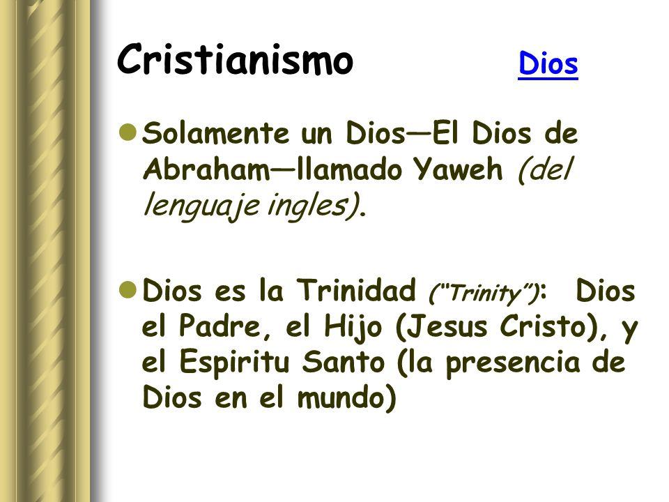 Cristianismo Dios Solamente un Dios—El Dios de Abraham—llamado Yaweh (del lenguaje ingles).