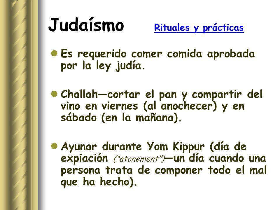 Judaísmo Rituales y prácticas