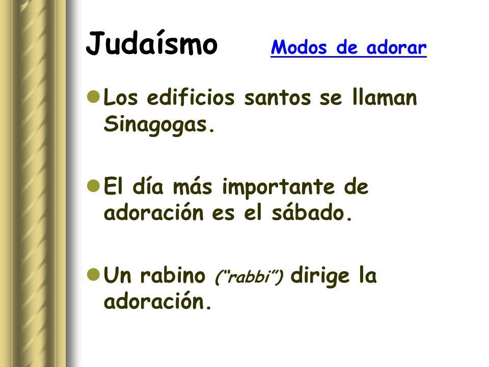 Judaísmo Modos de adorar
