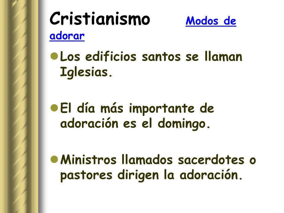 Cristianismo Modos de adorar