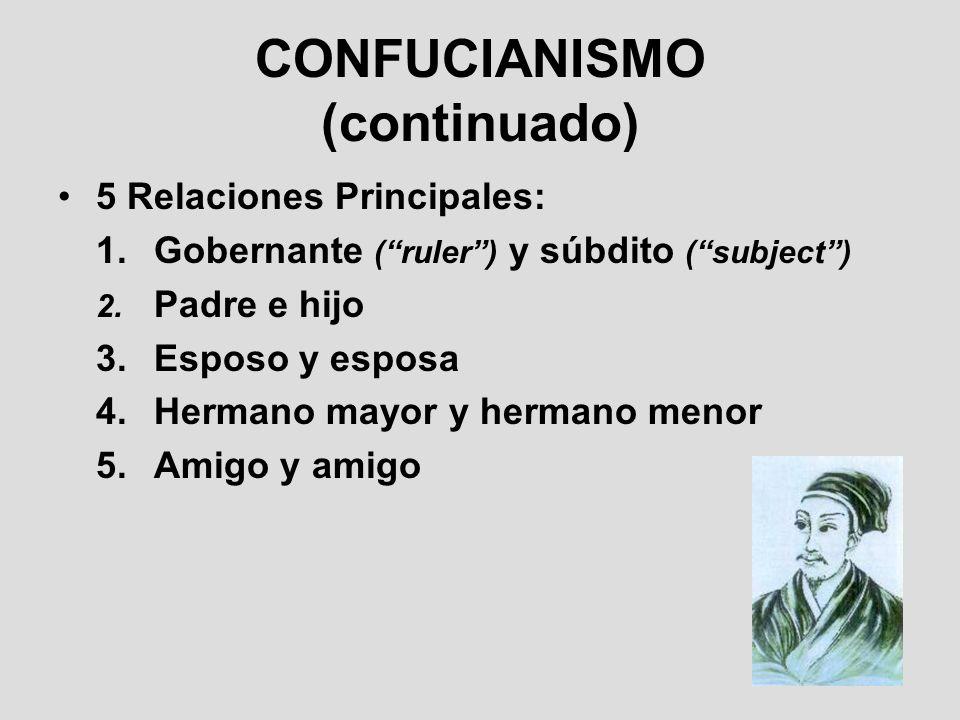 CONFUCIANISMO (continuado)