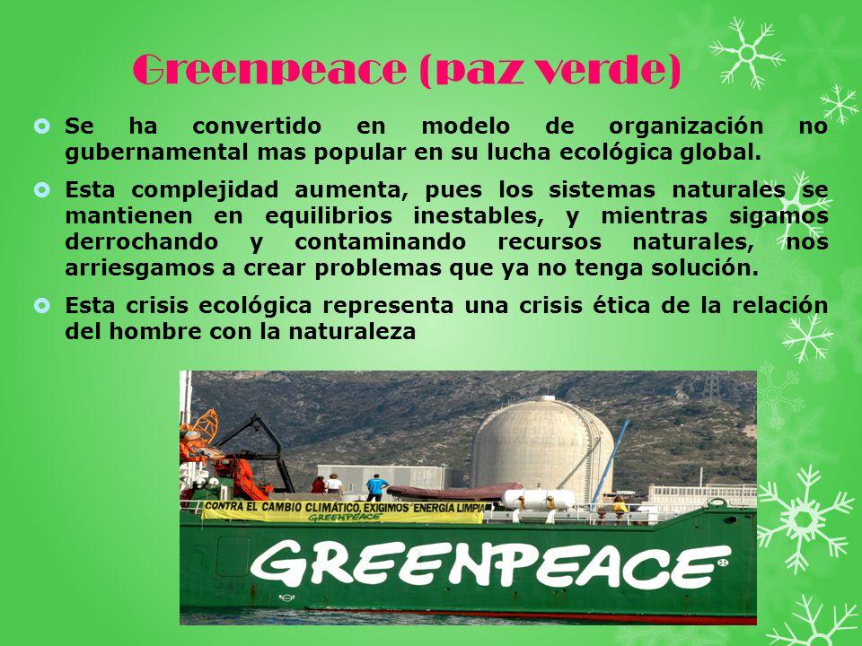 Greenpeace (paz verde)