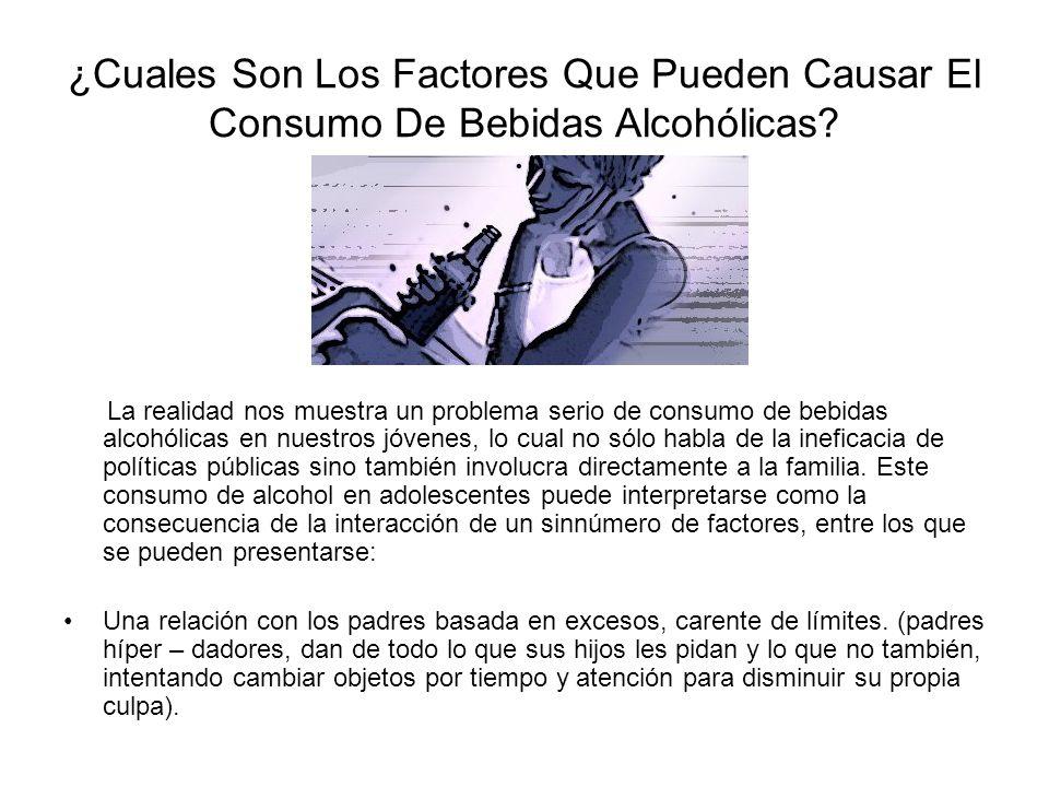 ¿Cuales Son Los Factores Que Pueden Causar El Consumo De Bebidas Alcohólicas