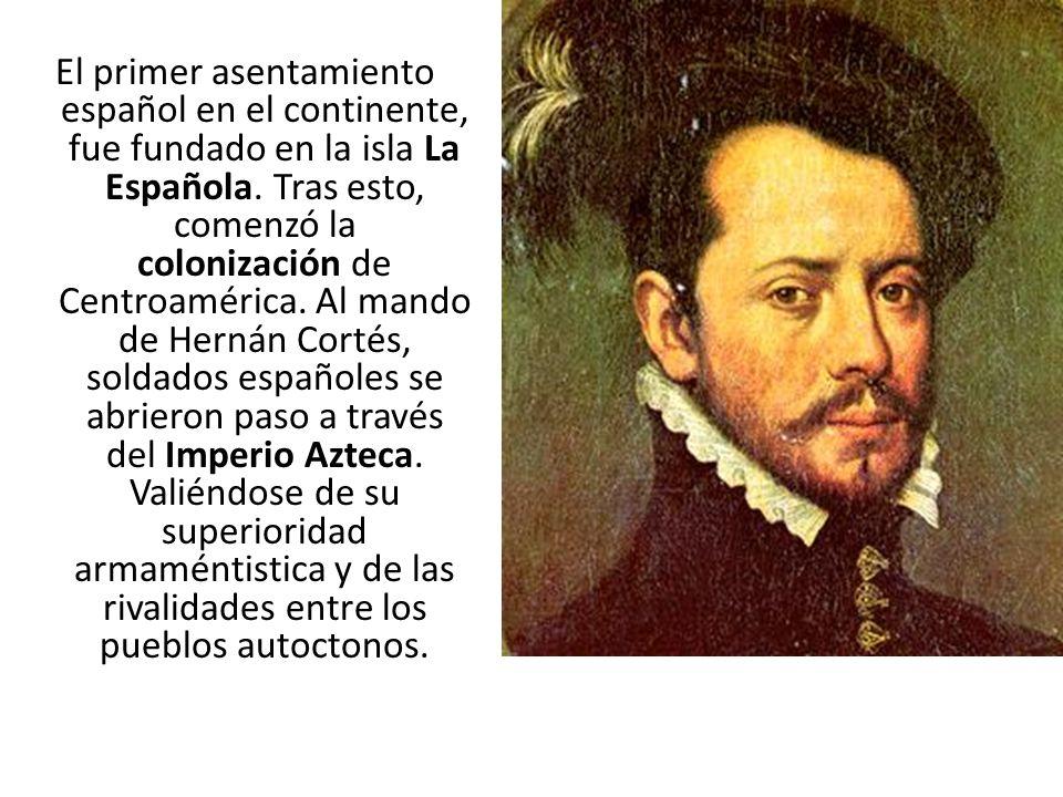 El primer asentamiento español en el continente, fue fundado en la isla La Española.