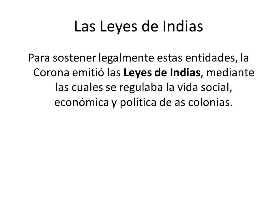 Las Leyes de Indias