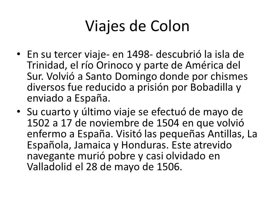 Viajes de Colon