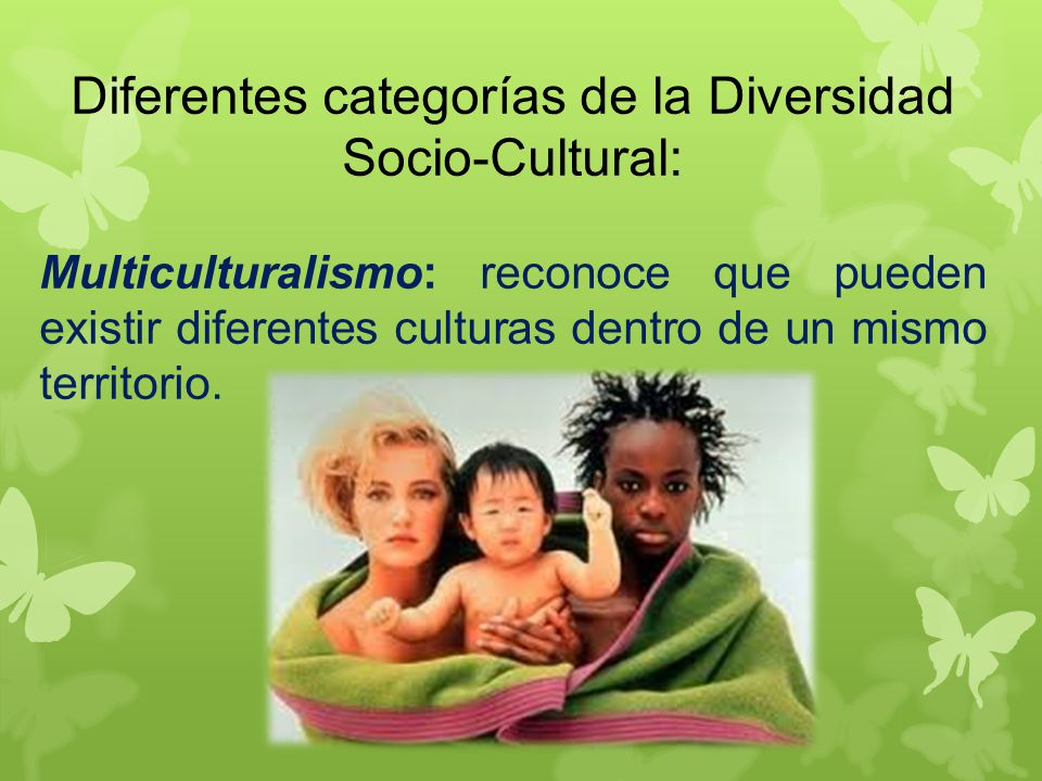 Diferentes categorías de la Diversidad Socio-Cultural: