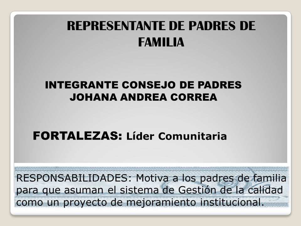 REPRESENTANTE DE PADRES DE FAMILIA