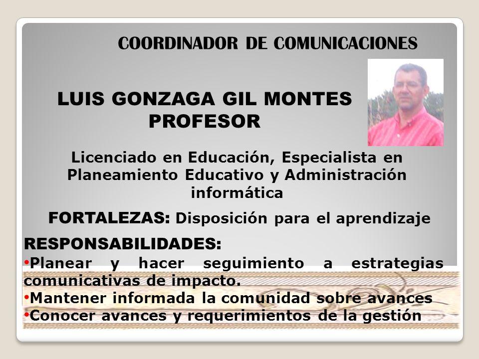 COORDINADOR DE COMUNICACIONES