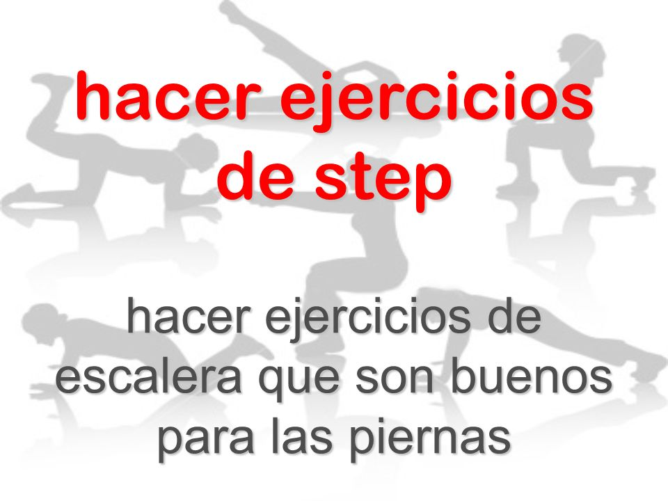 hacer ejercicios de step