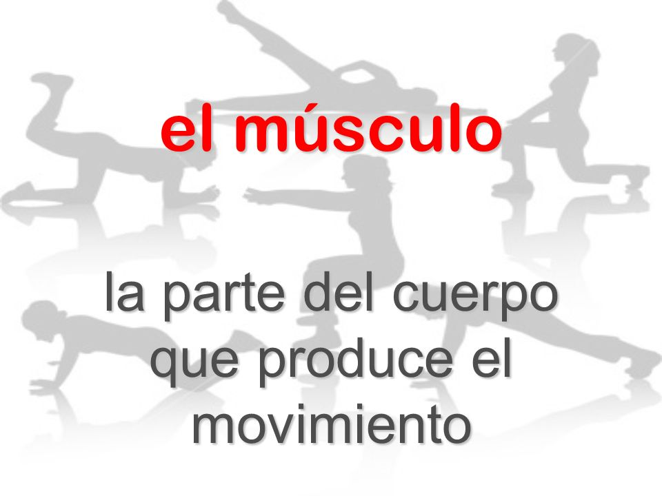 la parte del cuerpo que produce el movimiento
