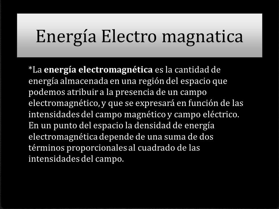 Energía Electro magnatica