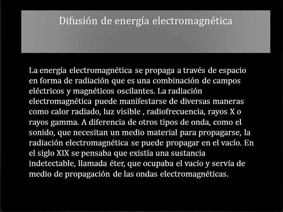 Difusión de energía electromagnética