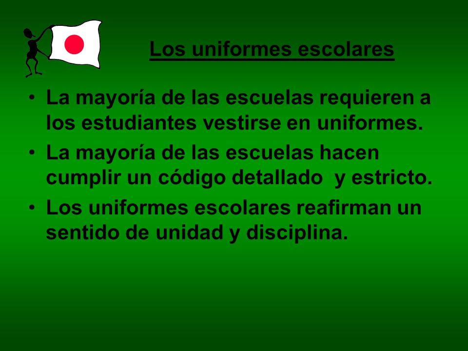 Los uniformes escolares