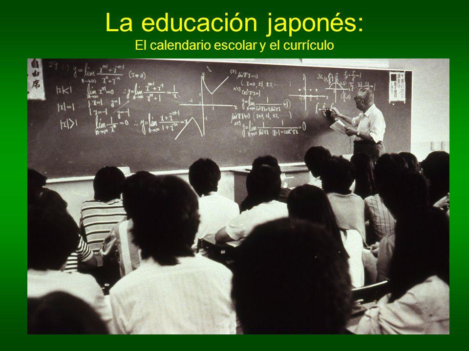 La educación japonés: El calendario escolar y el currículo