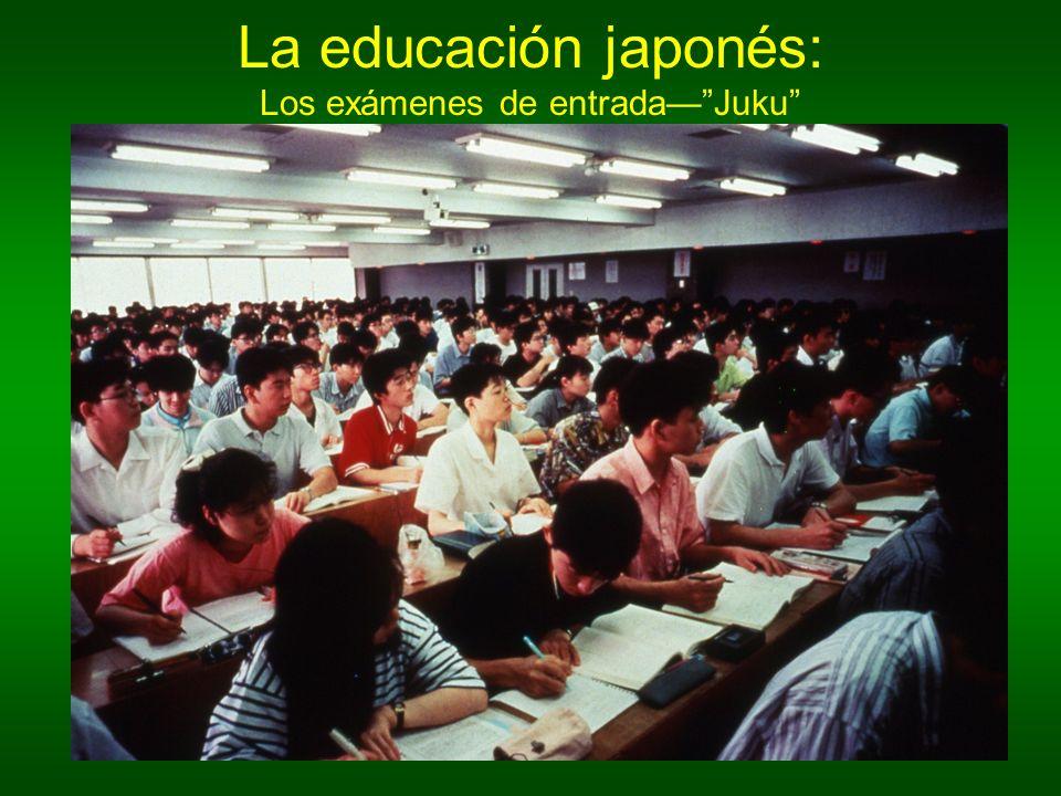 La educación japonés: Los exámenes de entrada— Juku
