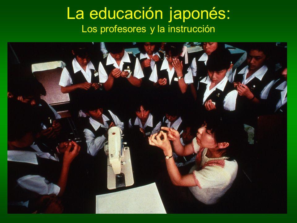 La educación japonés: Los profesores y la instrucción
