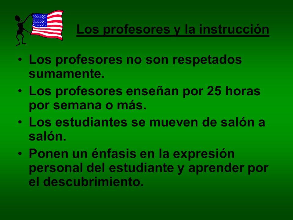 Los profesores y la instrucción