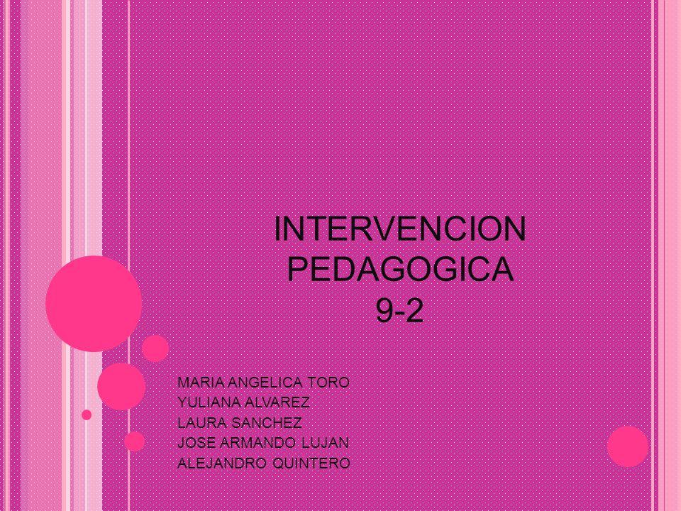 INTERVENCION PEDAGOGICA 9-2