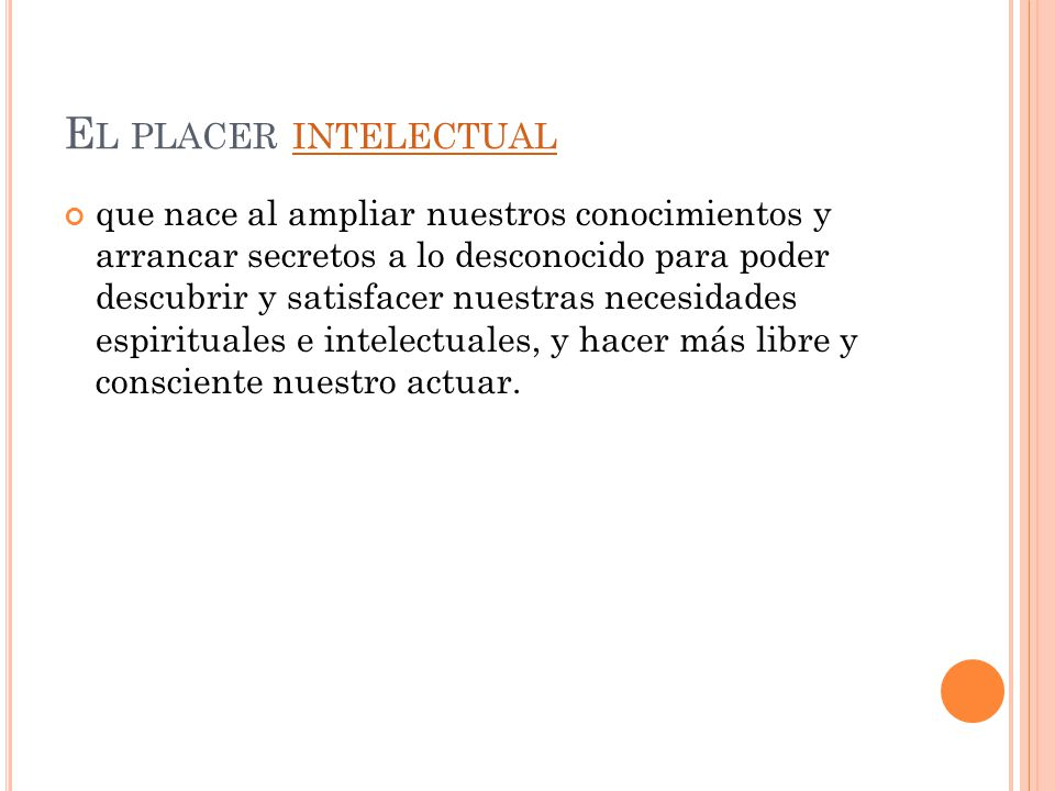 El placer intelectual