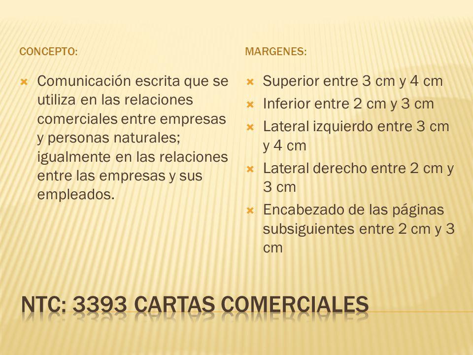 NTC: 3393 CARTAS COMERCIALES