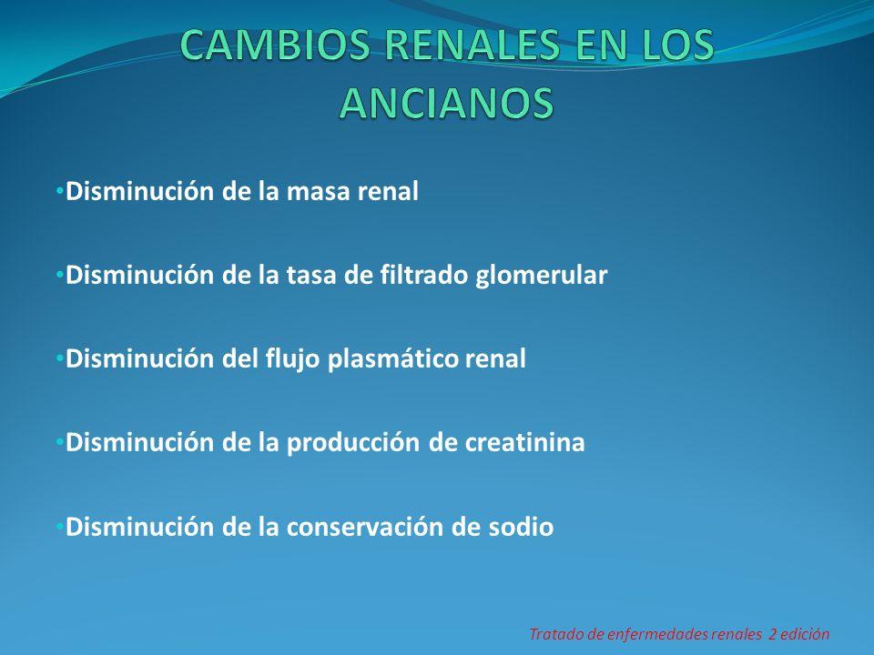 CAMBIOS RENALES EN LOS ANCIANOS