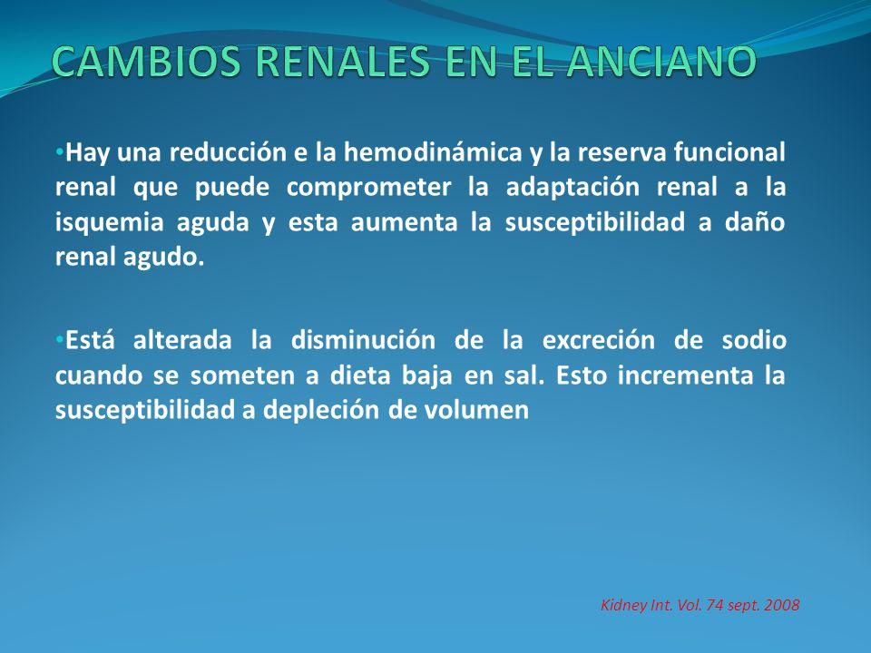 CAMBIOS RENALES EN EL ANCIANO