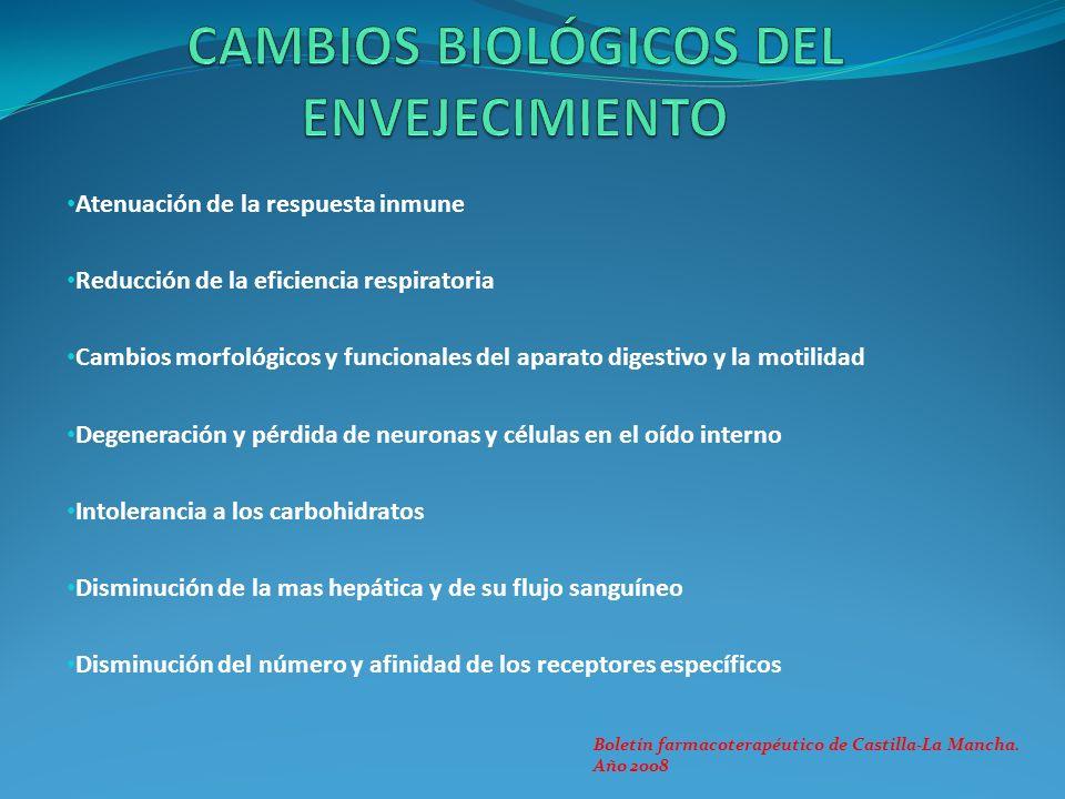 CAMBIOS BIOLÓGICOS DEL ENVEJECIMIENTO