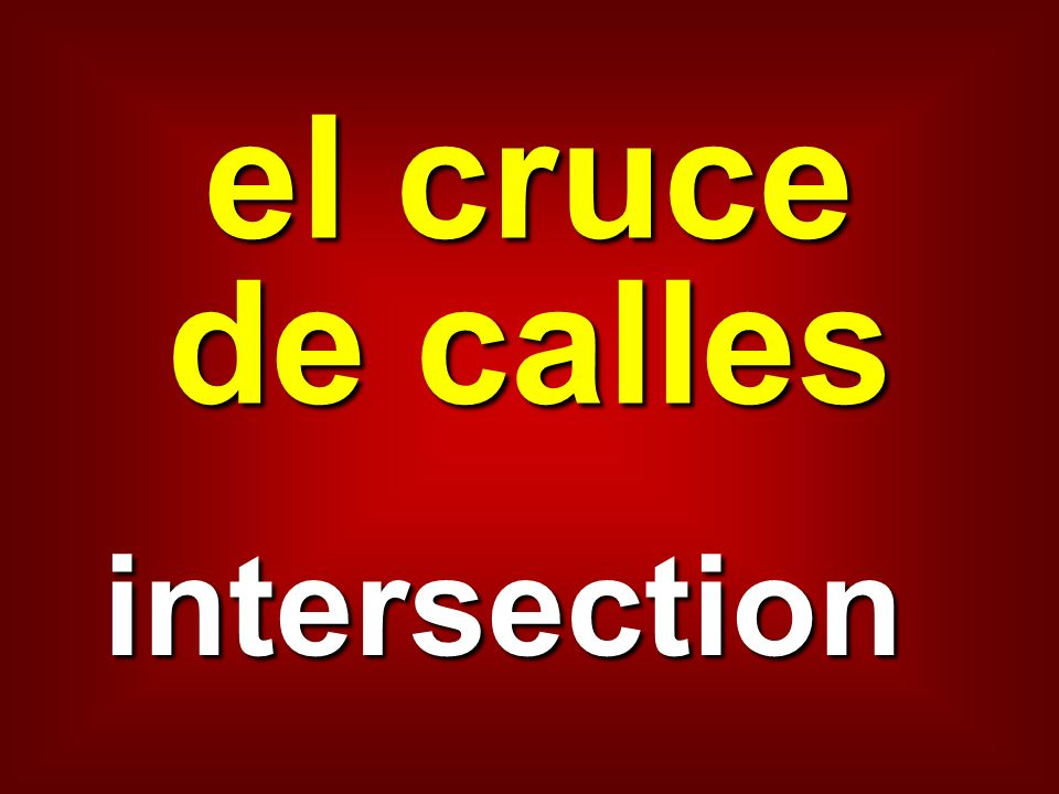 el cruce de calles intersection