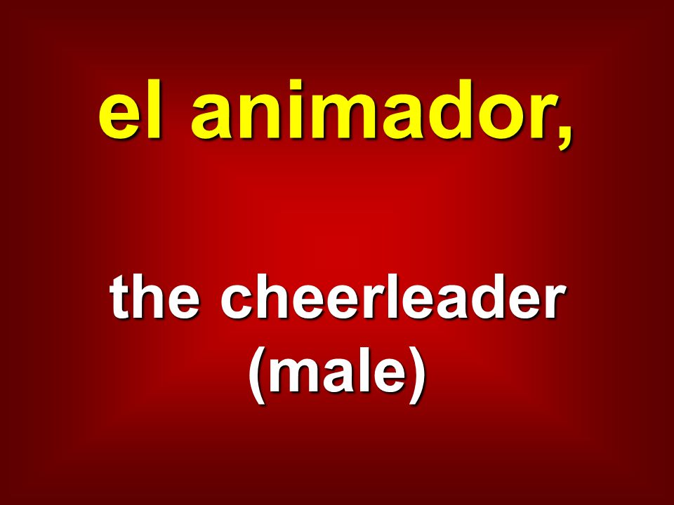 the cheerleader (male)