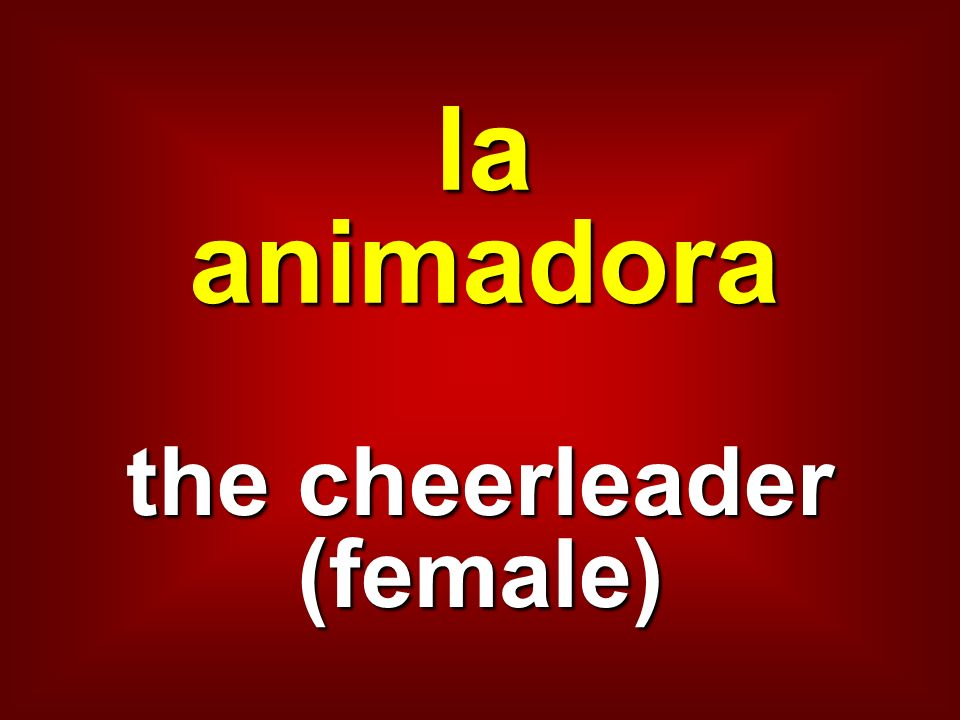 the cheerleader (female)