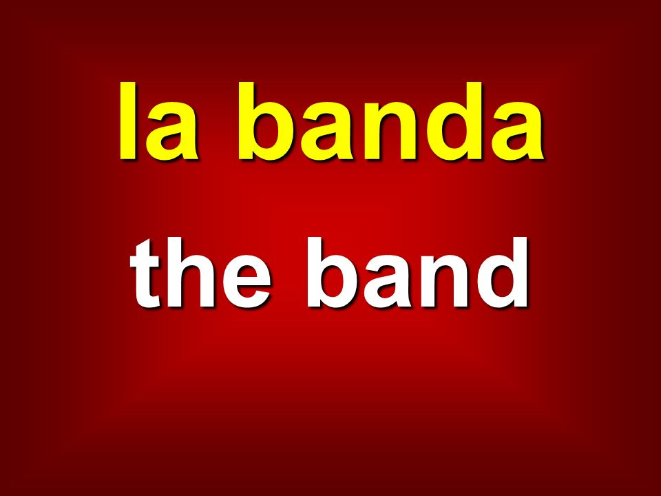 la banda the band