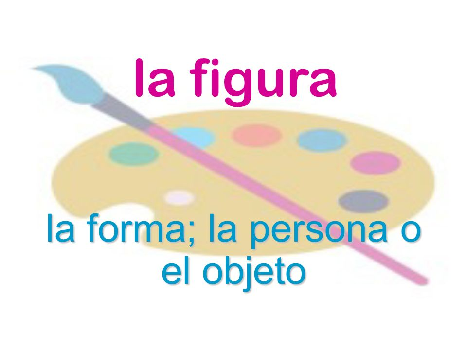 la forma; la persona o el objeto
