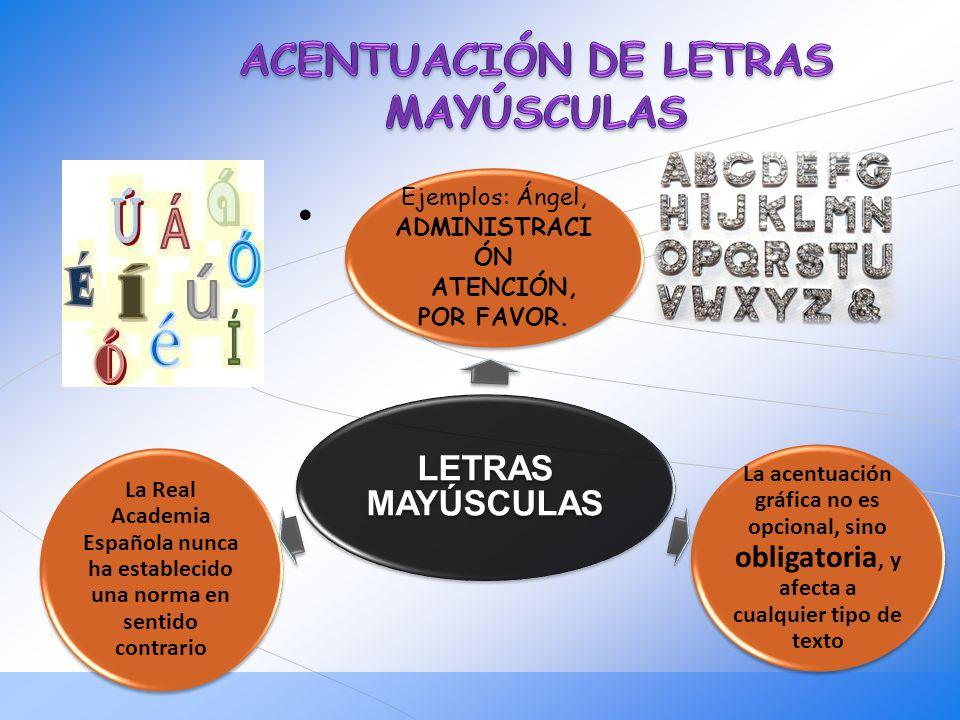ACENTUACIÓN DE LETRAS MAYÚSCULAS