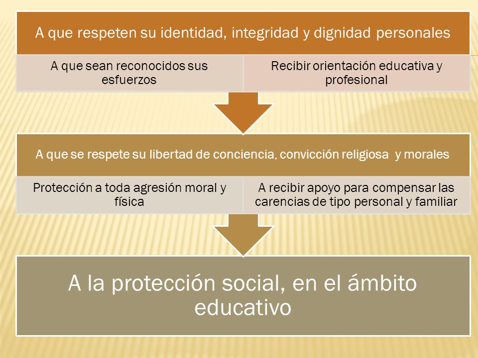 A la protección social, en el ámbito educativo