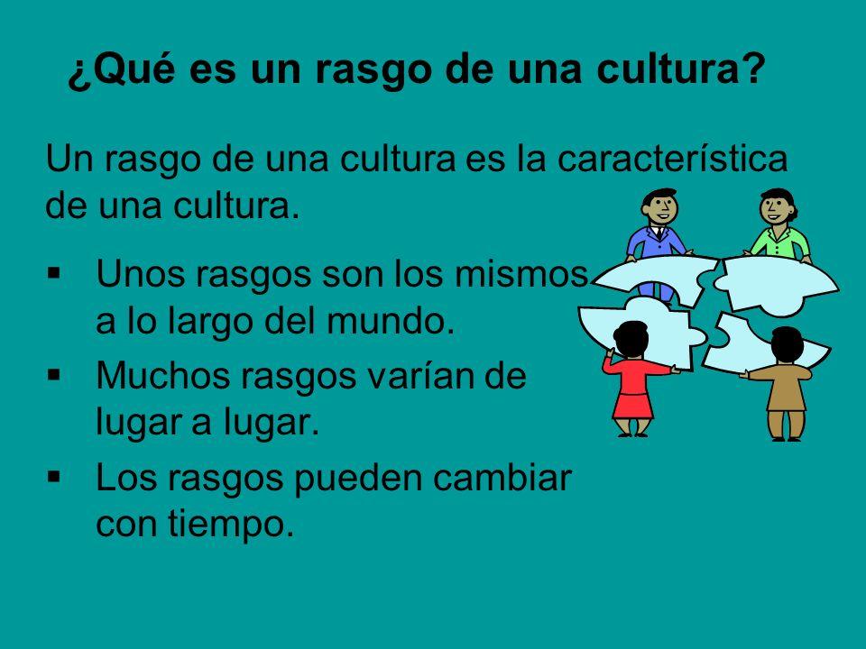 ¿Qué es un rasgo de una cultura