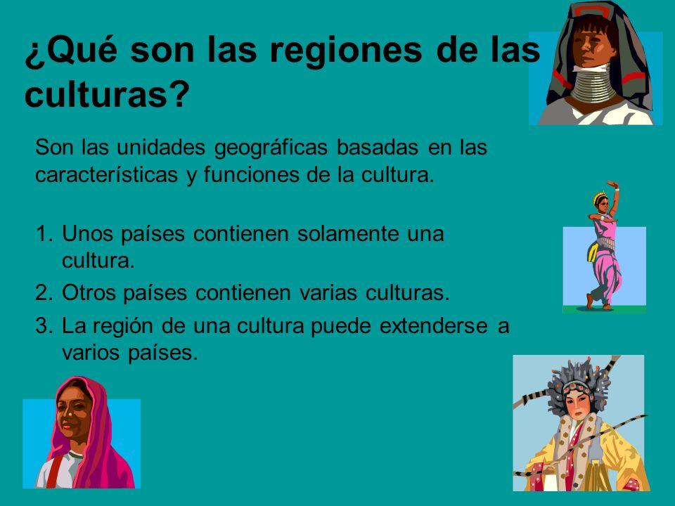 ¿Qué son las regiones de las culturas