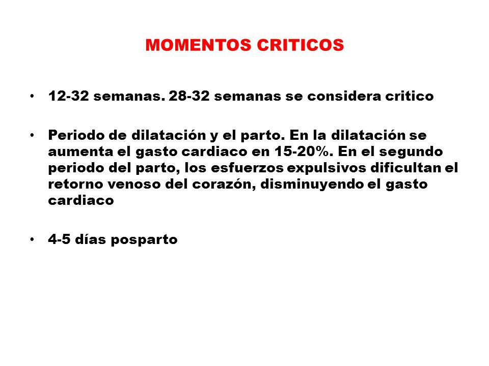 MOMENTOS CRITICOS 12-32 semanas. 28-32 semanas se considera critico