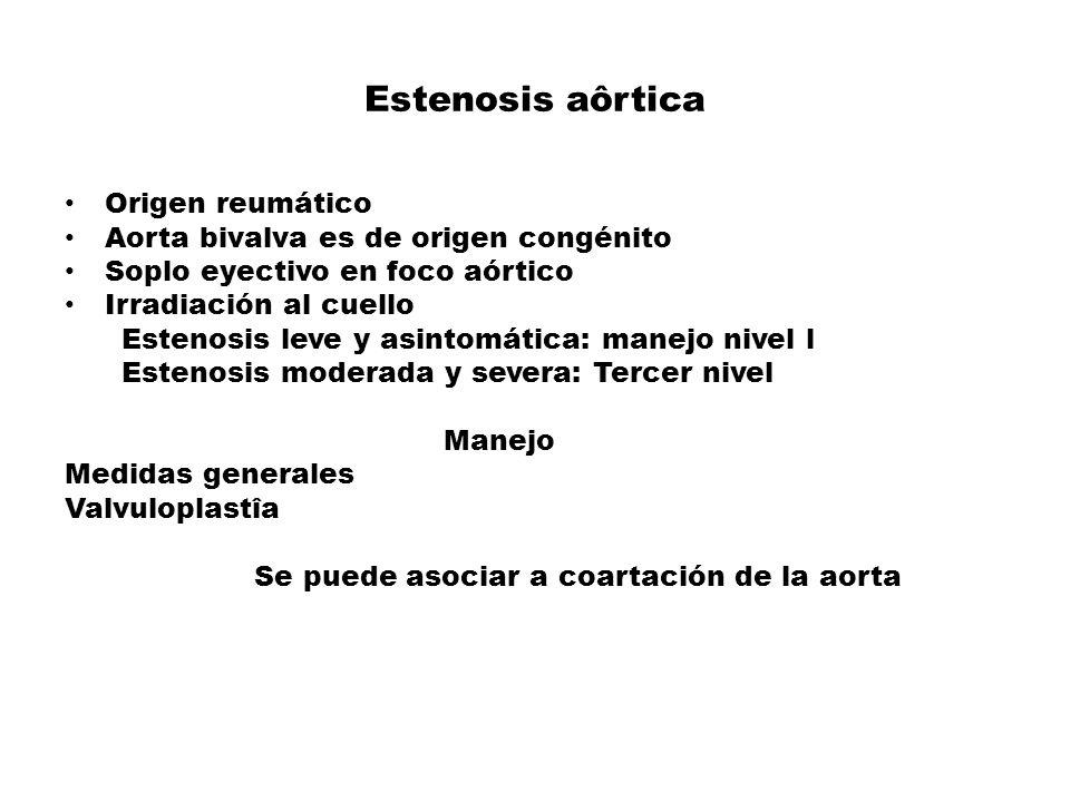 Estenosis aôrtica Origen reumático