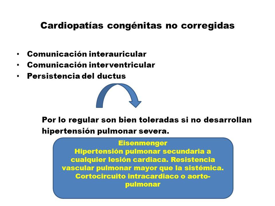 Cardiopatías congénitas no corregidas