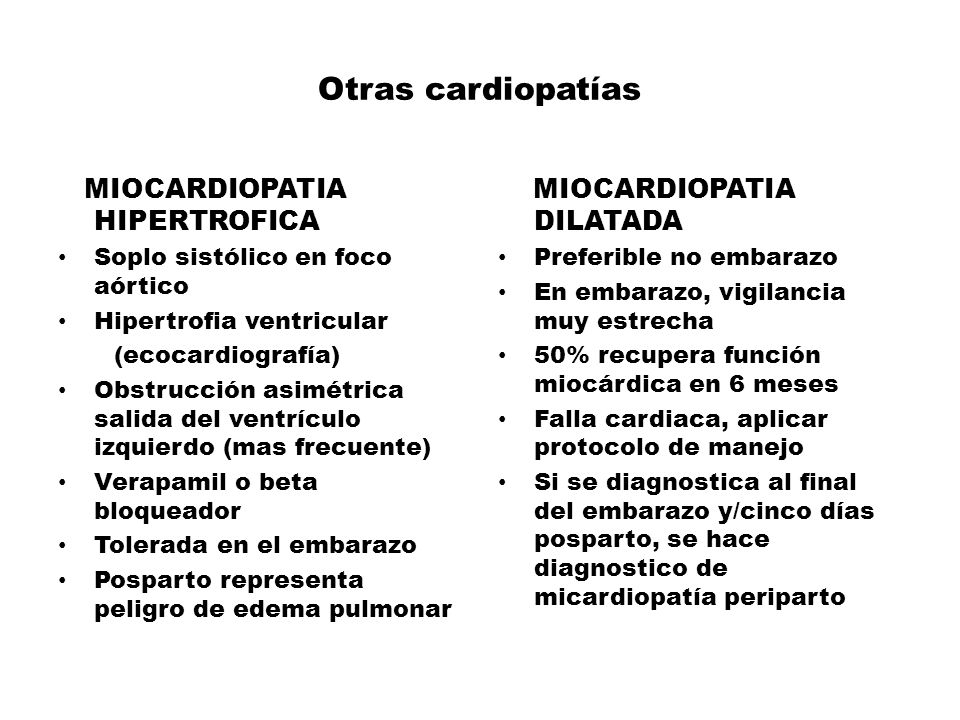 Otras cardiopatías MIOCARDIOPATIA HIPERTROFICA MIOCARDIOPATIA DILATADA