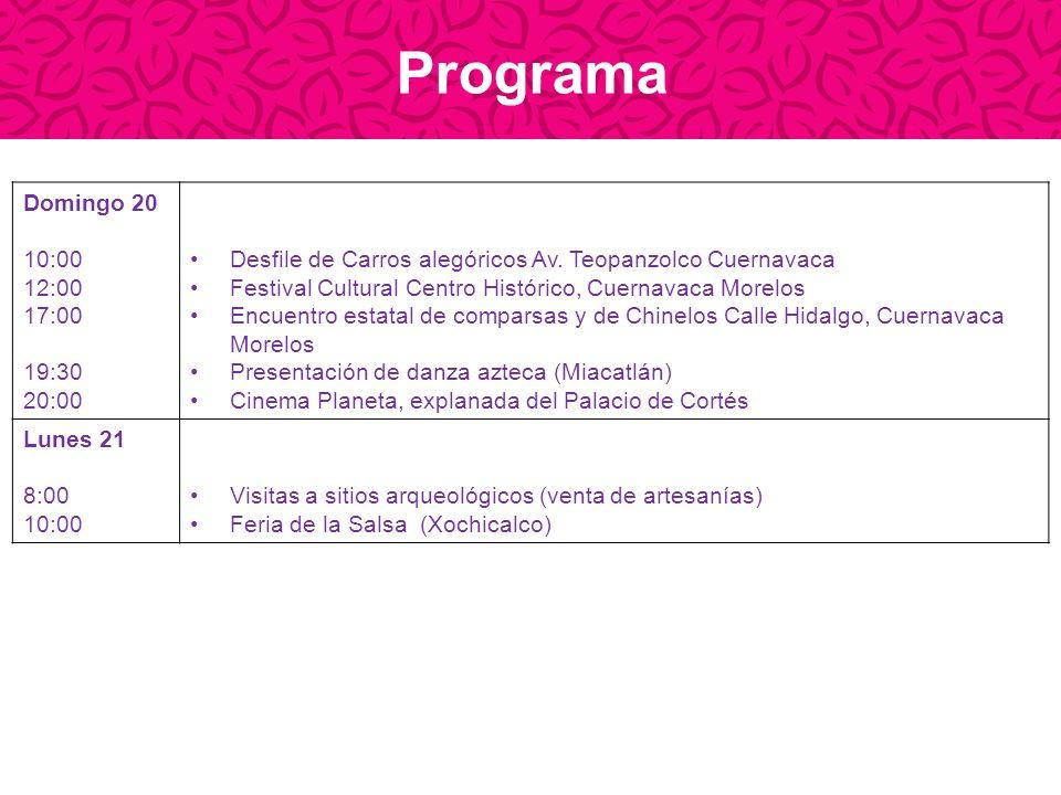 Programa Domingo 20 10:00 12:00 17:00 19:30 20:00