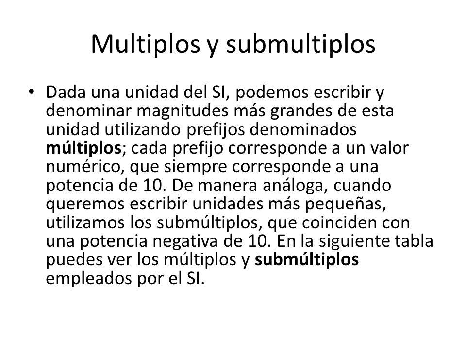 Multiplos y submultiplos